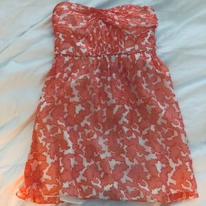 New Shoshanna Strapless Dress With Corset Size 4